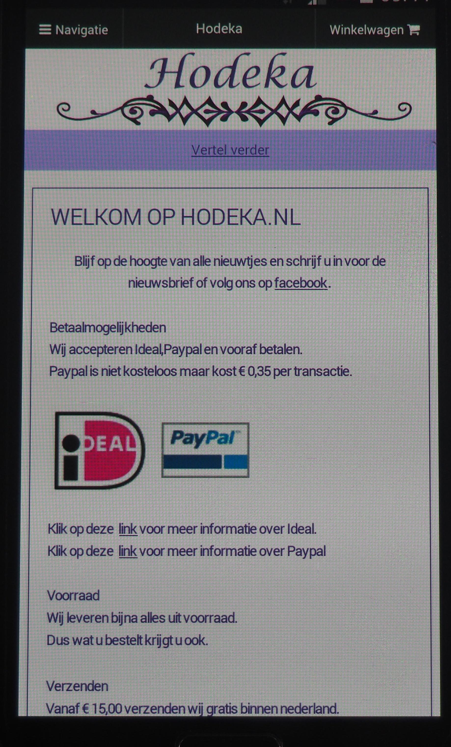 Ga naar www.hodeka.nl