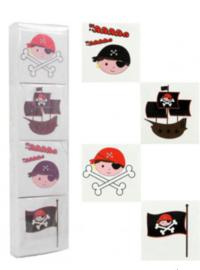 piraten tattoo 4 stuks (7113)