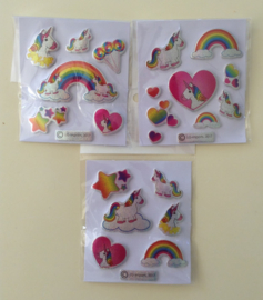 stickervel eenhoorn/unicorn (0711)