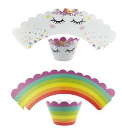 cupcakewikkel eenhoorn met steker  (2520)