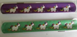 klaparmband eenhoorn paars/groen (0118)