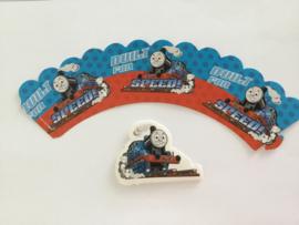 cupcake wikkel + prikker Thomas de trein (2525)