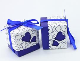doosje met strik voor chocolaatjes (3217)