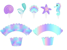 cupcakewikkel thema zeemeermin (2520)
