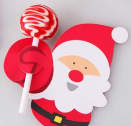 lolliehouder (kerst) met pinquin of kerstman(1304)