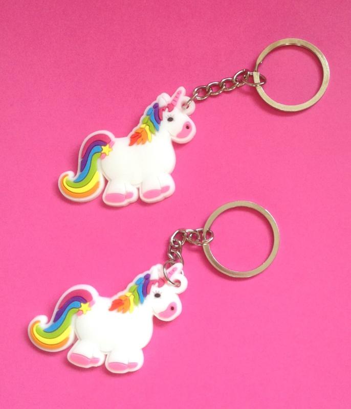 eenhoorn/unicorn sleutelhanger  (0126)