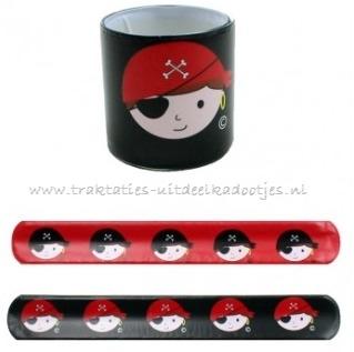 klap-armband met piratenplaatje (0616)