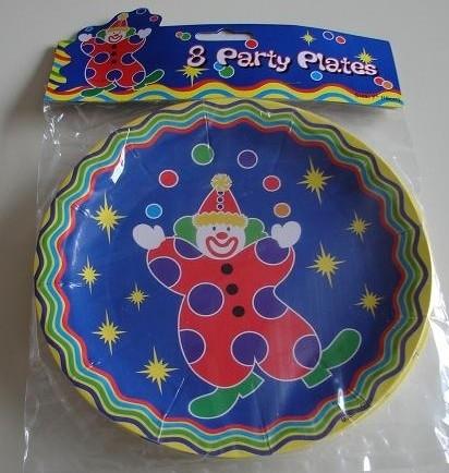 8 Clown party bordjes