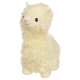 Fluffige Witte Alpaca Deurstopper