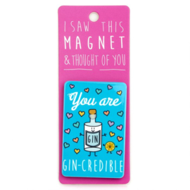 I saw this magnet and ... Gin-credible