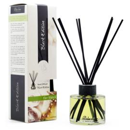 Boles d'olor geurstokjes Black Edition + 125 ml geurolie - witte bloemen
