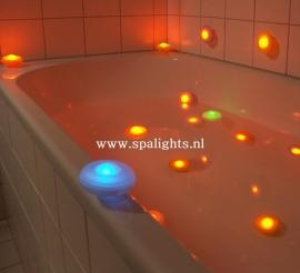 Spa light  set van 2 zacht oranje / geel kaarslicht
