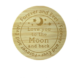 Bamboe deksel - Love you to the moon
