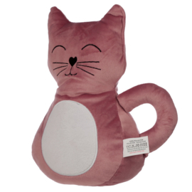 Roze Kat Fluwelen Deurstopper