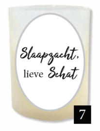 """7 - Gedenklichtje - """"Slaapzacht, lieve schat"""""""