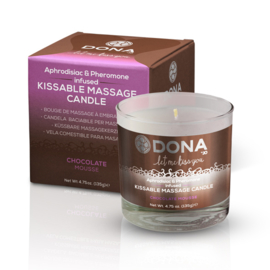 Kissable massage kaars Chocolade Mousse 135 gr.