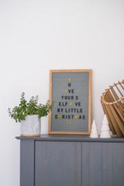 Letterboard Grijs 30 x 45 cm