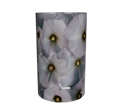 Candlecover - Witte bloem