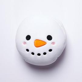 Relaxeazzz Sneeuwman Rond Reiskussen & Oogmasker