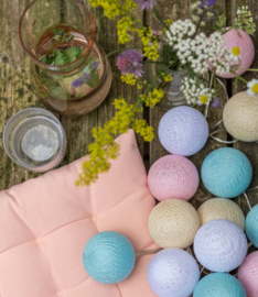 Outdoor cotton lights - Pastel - Fairtrade