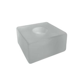 Kandelaar Vierkant Glas Frosted - dinerkaars Scentchips®