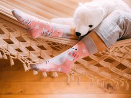 Vrolijke Sokken - Schaatsende ijsbeer - Mt. 39-42
