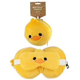 Relaxeazzz Duck Rond Reiskussen & Oogmasker