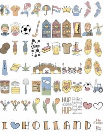 LEDR®  A6 -  Plaatjes en letters  Holland set – 60 stuks