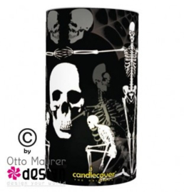 Candlecover - Tattoo  Skull and Bones