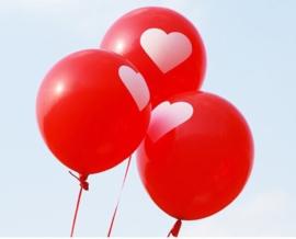 ballonnen met grote harten