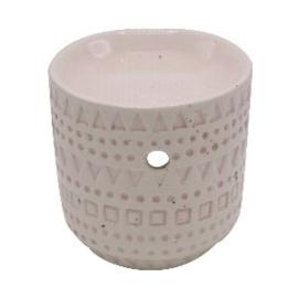 Vase Off Wit Pink Waxbrander