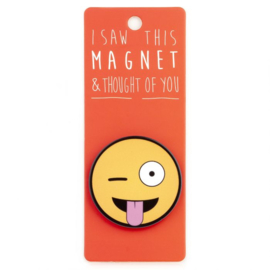 I saw this magnet and ... Tong out Emoji