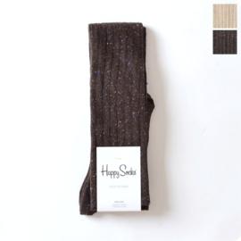 """Happy Socks Long Dark brown """"Knee Sock"""" - maat One-Size"""