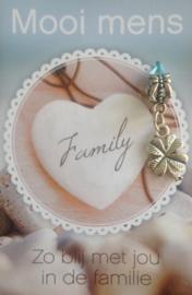 Zo blij met jou in de familie - klavertje 4