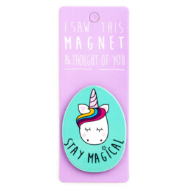 I saw this magnet and ... Stay Magical (Unicorn)
