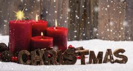 Candlecover - Christmas rode kaarsen