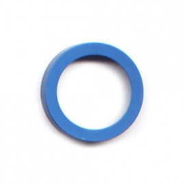 pierre junod mv 34 vignelli thick & thin ring blauw