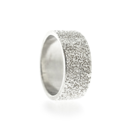 dotted wide ring silver