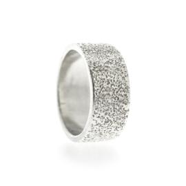 zand bandring zilver