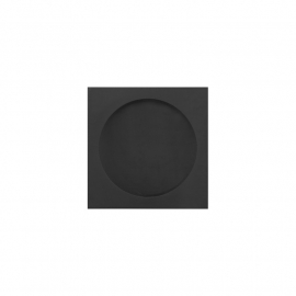 zwarte gematteerde kast easy going horloge