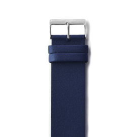 easy going watch strap buckle dark blue leather