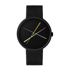 projects watches crossover horloge zwart mesh