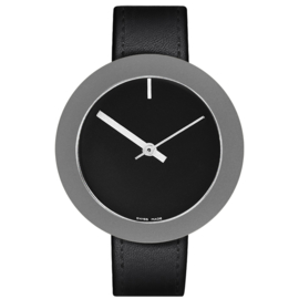 pierre junod mv44 vignelli mega horloge zwart
