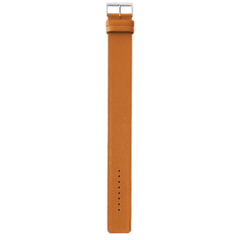 easy going watch strap buckle cognac leather