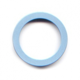 pierre junod mv 44 vignelli thick & thin mega ring pastelblauw
