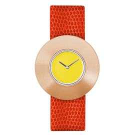 dsigntime easy going watch horloge geel
