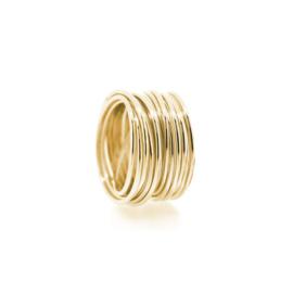 circular swirl ring yellow gold
