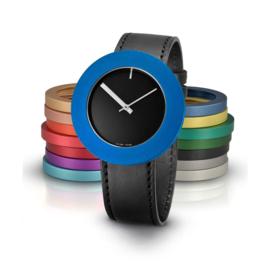 pierre junod mv40 vignelli large horloge zwart