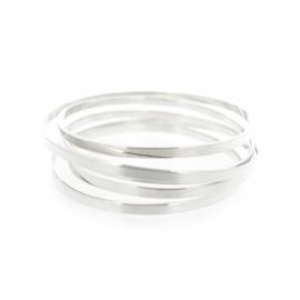 flat swirl bracelet