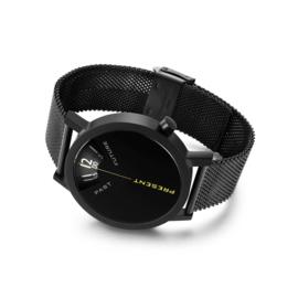 projects watches past, present & future horloge mesh zwart